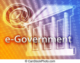 Electronic Government - Electronic government illustrated by...
