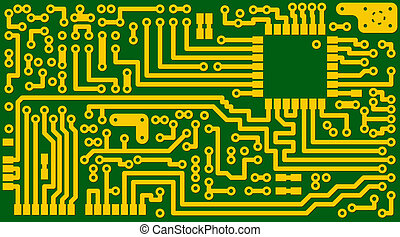 Electronic green circuit background - eps8 - Technological...