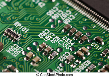 Electronic industrial green background