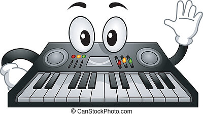 Electronic Keyboard Mascot - Mascot Illustration of an...