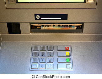 electronic keyboard of an ATM