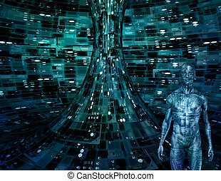 Electronic Man in Electronic Space