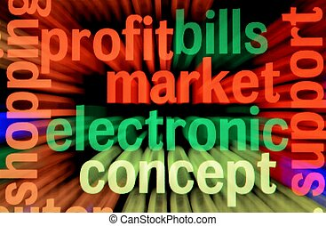 Electronic market and profit concept