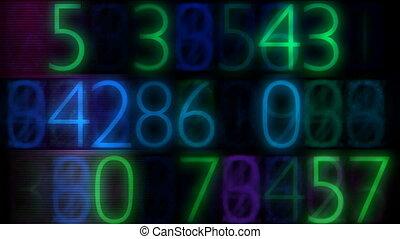 electronic numbers flashing