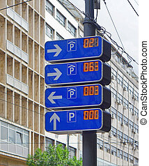 Electronic parking info sign