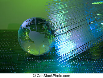 electronic printed circuit board with  