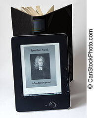 electronic reader with book