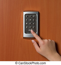 electronic security system being activated