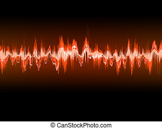 Electronic sine sound or audio waves. EPS 10 vector file ...
