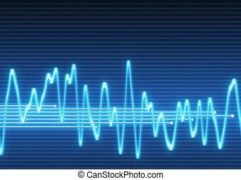 electronic sine sound wave - large image of an electronic...