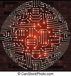 Electronic  sphere circuit