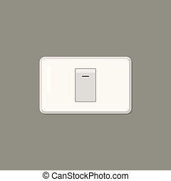 Electronic switch isolated on background