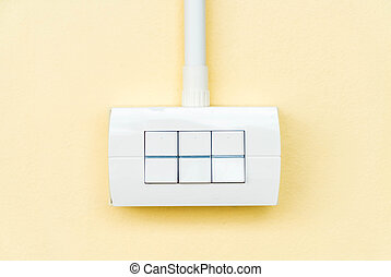 electronic switch on wall