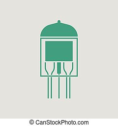 Electronic vacuum tube icon