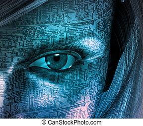 Electronic woman