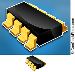 Electronics component - Chip, Processor modern, stylish...