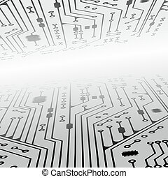 electronics - conductor path as a decorative background ...