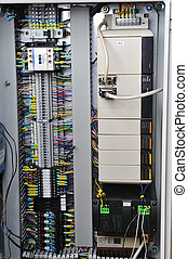 Electronics control systems in box in industry.