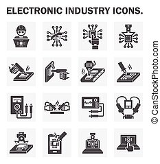Electronics icon - Electronics industry icons.