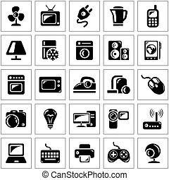 Electronics icons - Electronics icon set