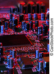 Electronics - Image shows the electronics of a computer ...