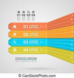 Electronics infographics art board bar. Vector illustration