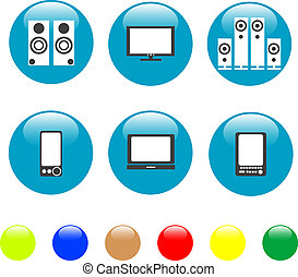 electronics media technical equipment icon
