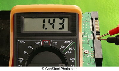 Electronics, Multimeter, Signal testing