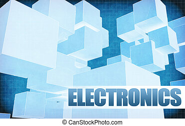 Electronics on Futuristic Abstract
