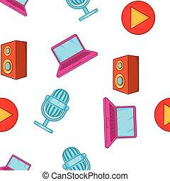 Electronics pattern, cartoon style