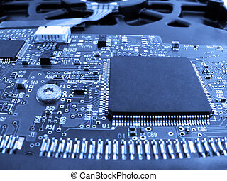 electronics: chip on a printed circuit board...