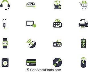 electronics supermarket icon set