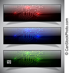 Set of electronics web banners. Vector illustration eps10