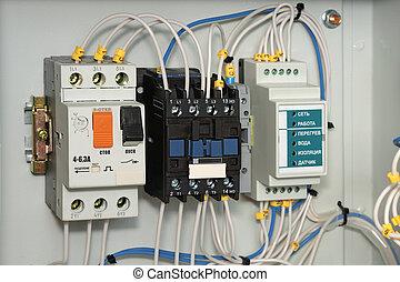 electroshield, control., bomba