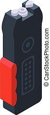 Electroshock taser icon. Isometric of electroshock taser vector icon for web design isolated on white background