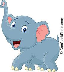 elefánt, karikatúra