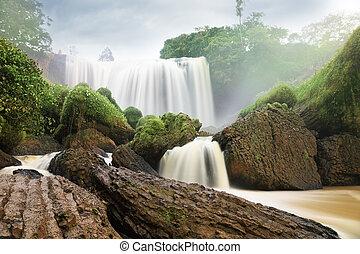 elefant, falls., da, lat, vietnam