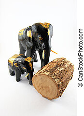 elefant, snijwerk