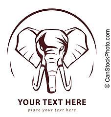 elefant, zeichen