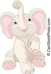 elefante, bebé