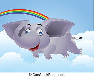 elefante, caricatura