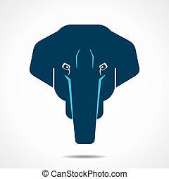 elefante, criativo, rosto