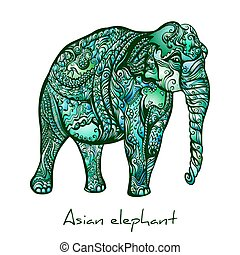 elefante, doodle