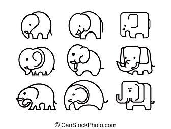 elefante, icono