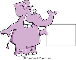 elefante, segno