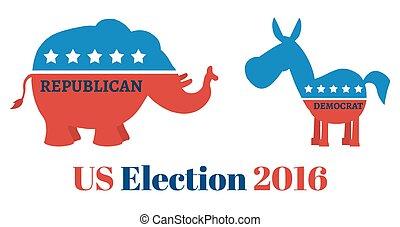 elefante, vs, burro, com, texto