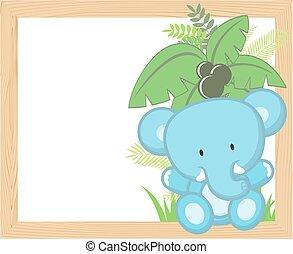 elefantenkind, rahmen
