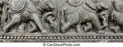 elefantes, fila