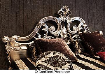 elegáns, ágy