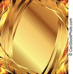 elegáns, elvont, arany-, háttér.